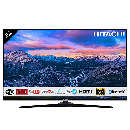 "Téléviseur Hitachi 32HE4000 32"" (80cm) 16/9 Full HD 1080P/ Smart TV/Netflix/Youtube/WiFi/ 3 HDMI/FRANSAT/USB/Alexa/Bluetooth"